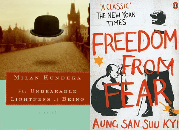 Foto: facebook.com/pages/Milan-Kundera-The-Unbearable-Lightness-of-Being; facebook.com/pages/Freedom-from-Fear