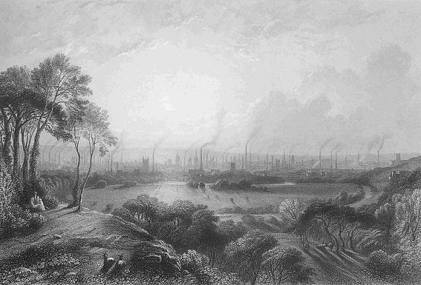 Foto: wikipediaEdward Goodall - Manchester, from Kersal Moor (gravura)