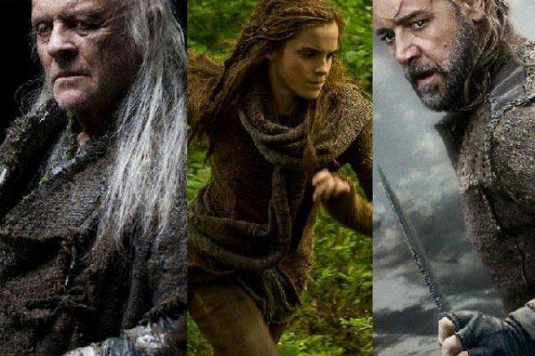 Anthony Hopkins, Emma Watson i Russell Crowe u filmu Noah; Foto: vulture.com