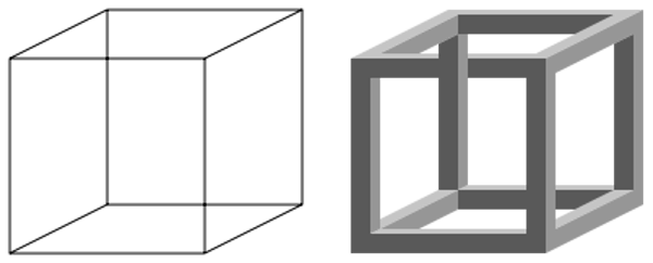 Foto: wikimedia.org, Neckerova kocka i nemoguća kocka