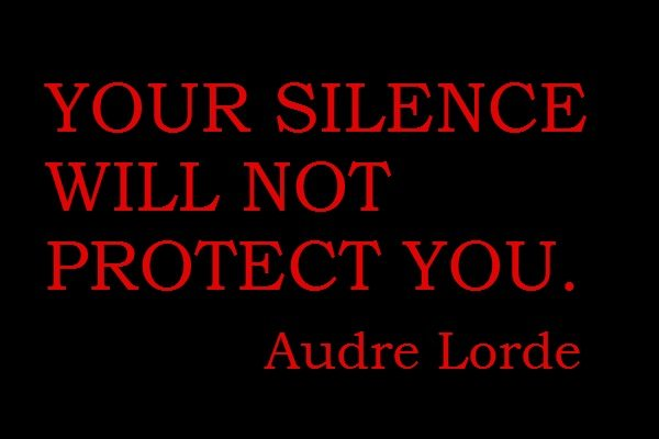 your silence eill not protect you