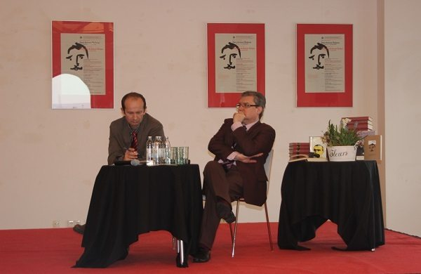 Foto: Darko Dragić/moderator Ivica Matičević i predsjednik DHK-a Božidar Petrač
