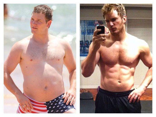 Foto: facebook.com Chris pratt prije i poslije pripreme za ,,Guardians of the Galaxy''