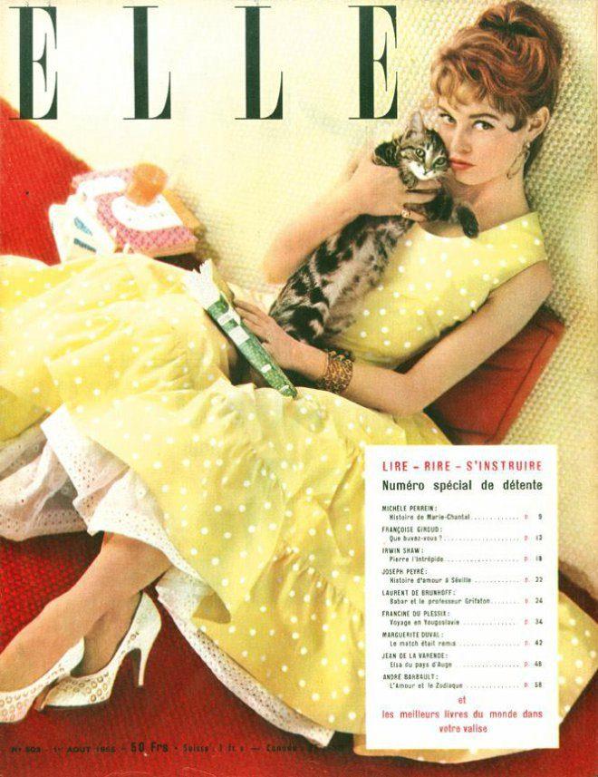 Foto: facebook event [Brigitte Bardot u Dior haljini na naslovnici Ellea prije 60 godina]