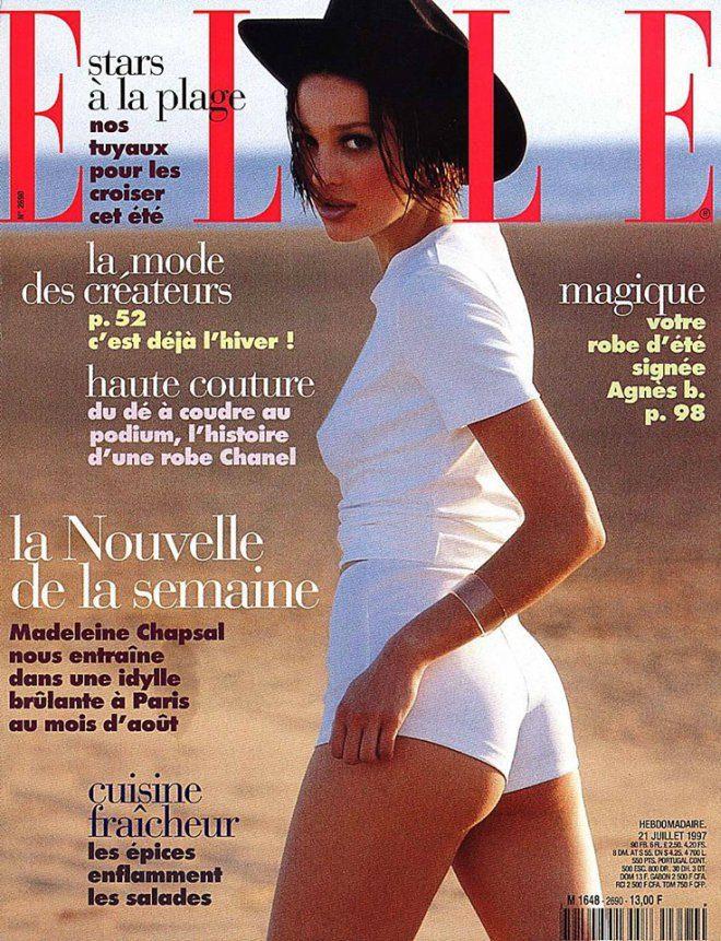 Foto: Facebook event [Hrvatski model Tatjana Dragović na naslovnici francuskog ELLE iz 1997. godine]