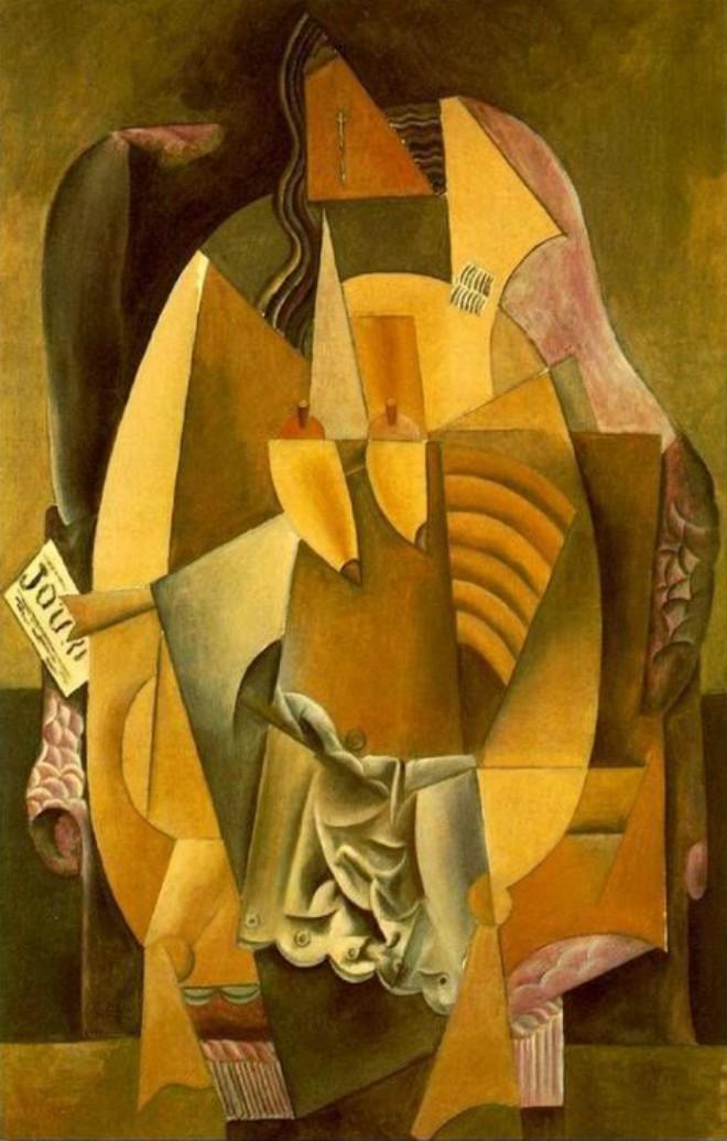Foto: pinterest.com/dominiquepoggi [Femme en chemise assise dans un fauteuil, 1913.-1914., Pablo Picasso]