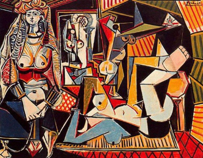 Foto: pinterest.com/s_vandervate [Les Femmes d'Alger (Version O), 1955., Pablo Picasso]