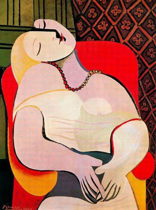Foto: pinterest.com/idealdrapes [Le Rêve, 1932., Pablo Picasso]
