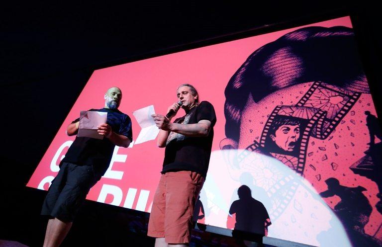 Boris Dežulović i Predrag Lucić foto: motovunfilmfestival.com