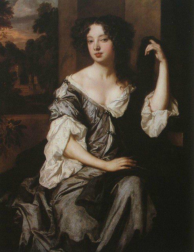Foto: pinterest.com/marisamleal9 [Sir Peter Lely: Vojvotkinja Louise Renée de Penancoet de Kérouaille od Portsmoutha (1671.)]