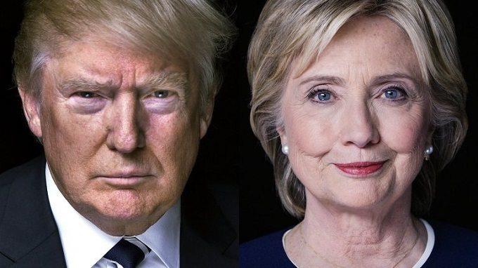 Trump/ Clinton foto: midnightsunak.com