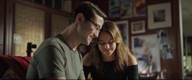 Gordon-Levitt i Woodley kao Edward Snowden i Lindsay Mills Foto: Official Trailer - YouTube