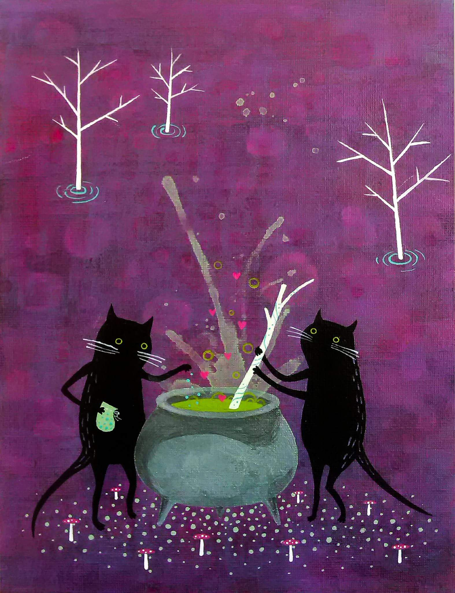 stvarno mokra crna maca