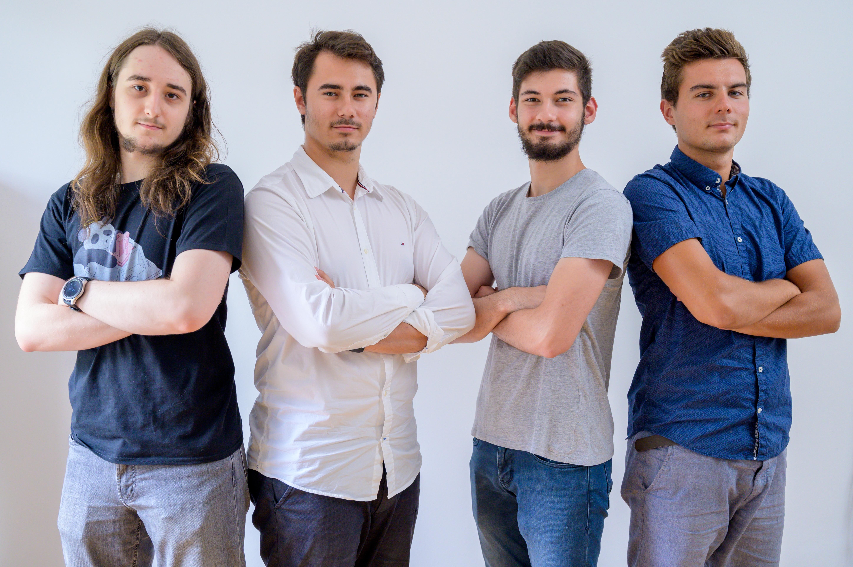Mundus tim; Fran Zekan(lijevo), Filip Hercig, Matija Fućek i Luka Dumančić