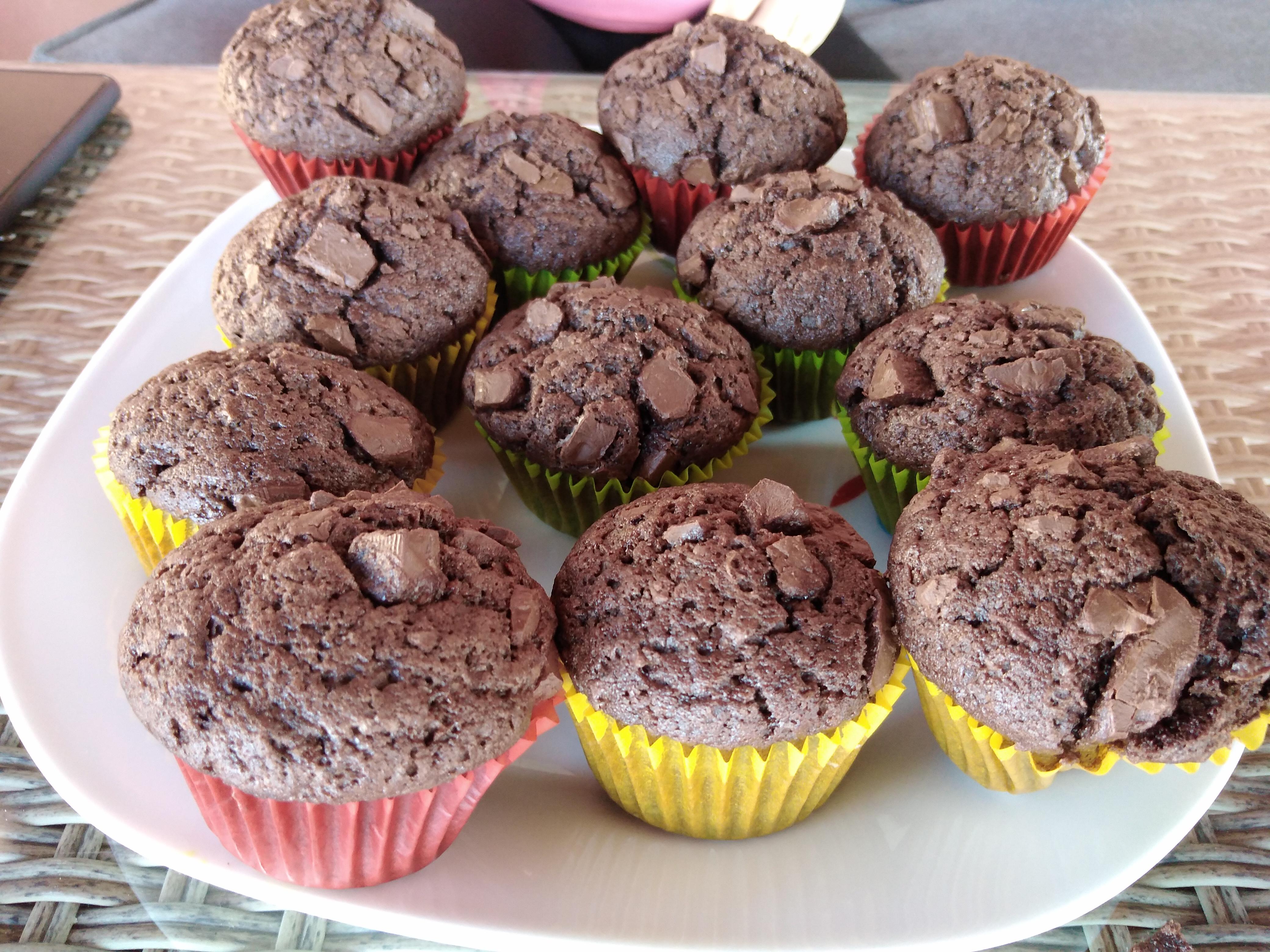 homemade veganski muffini
